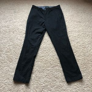 Banana Republic Aiden Fit 100% Cotton Black Chinos